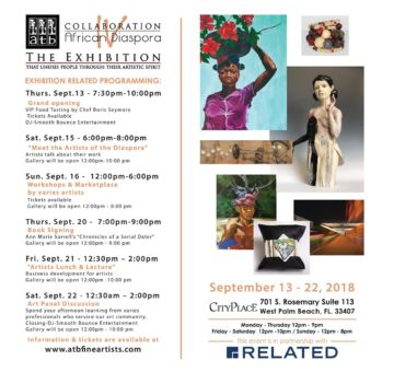 Collaboration African Diaspora IV Art Exhibit at City Place